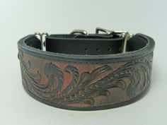 Adjustable leather martingale collar on Etsy, $50.00