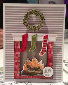 Festive Fireplace stamp set by Stampin' Up