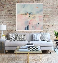 Abstract Landscape Art Print, Abstract Giclee Print , Pink And Grey, Modern Art Abstract, Contemporary Wall Art, Abstract Expressionist Art by Artzaro on Etsy https://www.etsy.com/listing/511908351/abstract-landscape-art-print-abstract