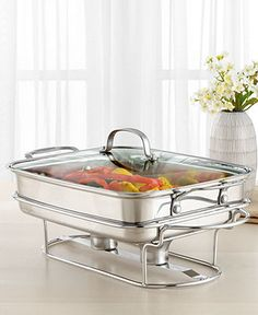 Cuisinart Classic Entertaining Buffet Server, Stainless Steel Rectangular - Serveware - Dining & Entertaining - Macys Bridal and Wedding Registry Keep Food Warm, Buffet Server, Wilton Cake Decorating, Chafing Dishes, Kitchen Gadgets, Kitchen Tools, Cooking Gadgets, Kitchen Supplies, Kitchen Stuff