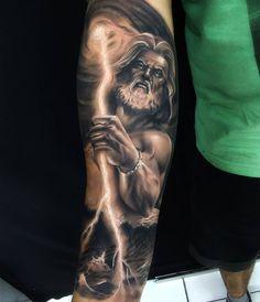 101 Amazing Poseidon Tattoo Ideas You Need To See! God Tattoos, Forarm Tattoos, Forearm Sleeve Tattoos, Best Sleeve Tattoos, Tattoo Sleeve Designs, Tattoo Designs Men, Best Forearm Tattoos, Symbols Tattoos, Mens Tattoos