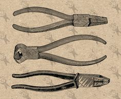 Vintage Image Tools Pliers Cutter Instant Download picture Digital printable clipart graphic Stickers Burlap Fabric Transfer Iron On 300dpi by UnoPrint on Etsy #hq #png #bw #Ephemera #diy #old #book #illustration #gravure #transfer #decor #hand #digital #collage #scrapbooking #quality #inspiration #retro #antique #vintage #300dpi #craft #draw #drawing  #black #white #printable #crafts
