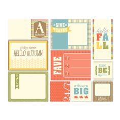 Hello Fall Pocket Cards -- Digital Download by Stampin' Up!
