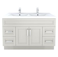 Allen Roth Palencia White 48 In W X 21 In D White Transitional