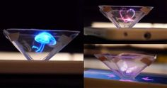Futuristic Gadget, Holographic Technology, Video Tutorial, How to turn your smartphone into a Hologram Projector