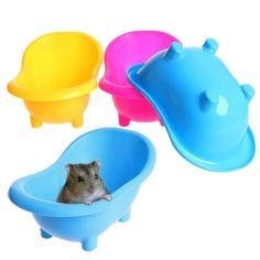 Cute-Pet-Hamster-Sauna-Bathroom-Bath-Sand-Room-Plastic-Bathtub-Hamster-Toy - hamster home - Gerbil Toys, Diy Hamster Toys, Hamster Care, Hamster House, Pet Toys, Hamster Stuff, Pet Stuff, Hamster Ideas, Hamster Food