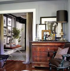 Similar to the lamps I got from Dad.   A Casually Chic Apartment in Kansas City : Architectural Digest