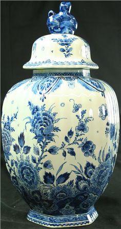 Vintage Royal Delft HandPainted Ginger Jar 1950 by euroluxantiques, $510.00