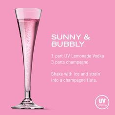 UV Vodka Recipe: Sunny & Bubbly