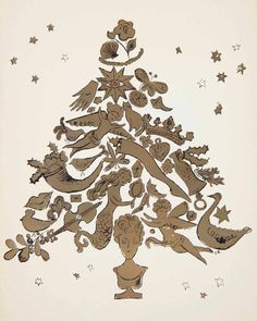 """christiesauctions: """"This winter we are featuring holiday-themed photographs, prints, drawings and books by Andy Warhol. From Santa Claus, poinsettias, angels, to Christmas cards, Andy Warhol @ Christie's: Deck the Halls offers something to suit..."""