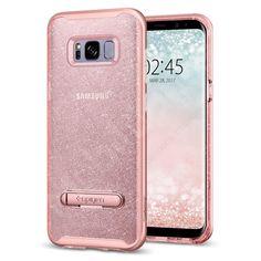 Spigen Crystal Hybrid Glitter Phone Case For Samsung Galaxy Glitter Samsung S8 Phone Cases, Galaxy S8 Phone Cases, Glitter Phone Cases, Cute Phone Cases, Samsung Galaxy, Galaxy 8, Vintage Pink, New Phones, Phone Accessories