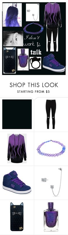 """sad day set"" by catthorn ❤ liked on Polyvore featuring Boohoo, Accessorize, DC Shoes and Bling Jewelry"