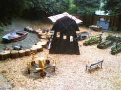Love what this preschool does in their outdoor classroom