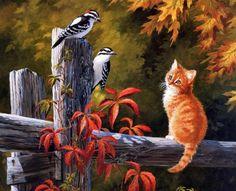 Рыжие коты вдохновляют художников:)