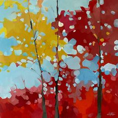 Impressionist Paintings, Landscape Paintings, Landscapes, Wine Bottle Art, Canadian Artists, Paint Party, Tree Art, Art Projects, Contemporary Art