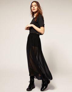 ShopStyle: American ApparelSheer Maxi Skirt