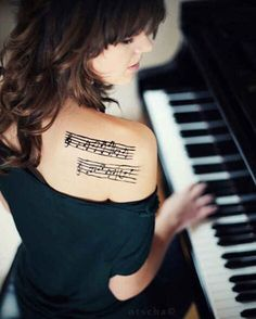 27 Creative And Personal Music Tattoos  Love this, but then from a favorite song