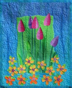 Never too late for a beautiful tulip quilt