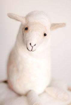 Felt Sheep  Ariadna Art Puppet Gift for kids Felt by TwoSadDonkeys #etsykids #etsyhandmade #etsyspecialt @EtsyRT