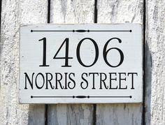 Dirección placa aduana números signo pintado por FarmHouse1920