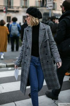 55 plaid Coat, elegant and stylish, plaid coat is the most popular this winter! - zzzzllee - 55 plaid Coat, elegant and stylish, plaid coat is the most popular this winter! – zzzzllee 55 p - Black Women Fashion, Look Fashion, Fashion Outfits, Feminine Fashion, Fashion 2017, Fashion Rings, Womens Fashion, Fashion Edgy, Cheap Fashion