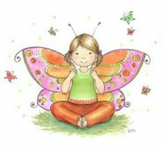 Vlinderen: Breng je knieën naar je borst, laat je knieën naar buiten vallen en plaats je voetzolen tegen elkaar. Adem in verleng je rug en pak je voeten vast. Beweeg je knieën rustig op en neer als de vleugels van een vlinder. Maakt de heupen flexibel. Fladder je mee? Yoga in Capelle aan den IJssel bij De Zeemeermin. www.dezeemeerminyoga.nl