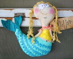 Mermaid named Reef by buttuglee on Etsy