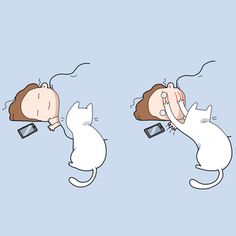 40 Funny Doodles For Cat Lovers and Your Cat Crazy Lady Friend grumpy tom talking nyan instagram pinterest facebook twitter comic pictures youtube