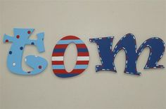 Ideas to paint wooden letters for kids room