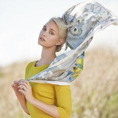S/S 2015 by Marja Kurki Finland, shot by Jonas Lundqvist. Wool Poncho, Silk Scarves, Silk Ties, Leather Bag, Fashion Photography, Fashion Accessories, Princess Zelda, Scarfs, Finland