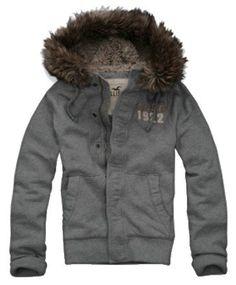Hollister Mens Sherpa-lined Faux Fur Hoodie Jacket
