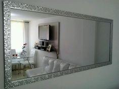 espejos biselados para sala - Buscar con Google Ideas Para, Living Room Designs, Oversized Mirror, New Homes, Dining Room, Room Decor, Lights, Interior Design, Wall
