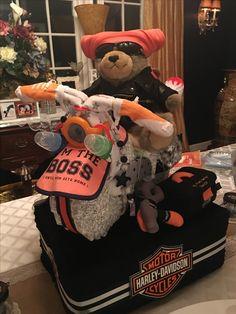 Harley Motorcycle Diaper Cake