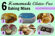 A round-up of 6 homemade baking mixes that are Gluten-FREE. Save time. Save money. Know what is in your food.