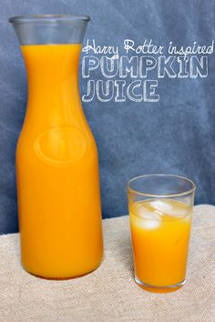 Pumpkin Juice // Budget Girl --- Inspired by Harry Potter. This juice is wonderful chilled and tastes like fall.