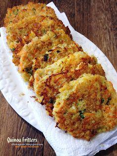 Cuisine Paradise | Singapore Food Blog | Recipes, Reviews And Travel: 3 Recipes On Quinoa Salad - Part II - Quinoa Fritters