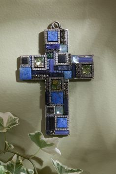 Blue Lapis Gemstone Wall Cross – Celebrate Faith
