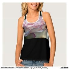 "Beautiful Shirt""Love in Summer"" Design Tank Top"