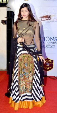 Mannara (Barbie Handa) at the 21st Lions Gold Awards. #Bollywood #Fashion #Style #Beauty