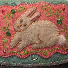 rabbit felt pursew Sally Mavor
