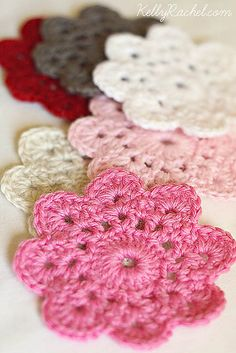 Pinned as a coaster...........put together this would make a lovely lap afghan.......Free Pattern  Ravelry: Flower Crochet Coasters pattern by Yvonne Eijkenduijn