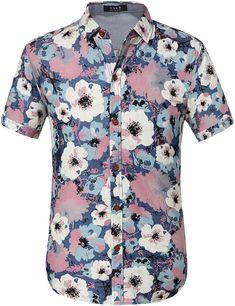 441c07acd9be6 Paradise and Balmy Floral Print Hawaiian Shirt   summer shirt Cool Shirts