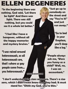Ellen is the one celebrity I would faint over. Besides Channing Tatumn. Lol. Love her!!