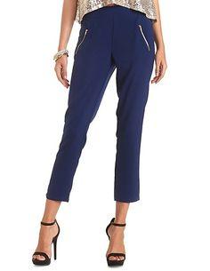 Zipper Pocket Trousers: Charlotte Russe