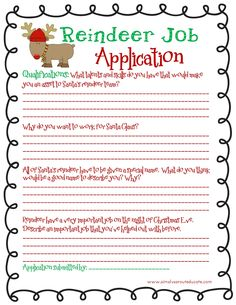reindeer application | December 2012 ~ Simply Sprout