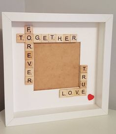 Together forever frame, true love frame, box frame, couples gift, gift for partner, Valentine's gift, engagement gift, keepsake frame by FrameitUnitedKingdom on Etsy