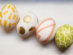 Forget the dye — try washi tape on your #Easter eggs this year.