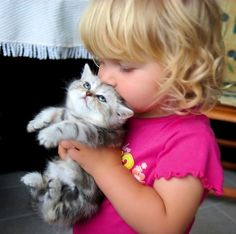 awwwh baby kisses kitty