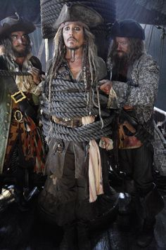 First look of Johnny Depp as Captain Jack Sparrow in Pirates of the Caribbean: Dead Men Tell No Tales.