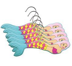Shop for Mermaid Hanger Set for Children. Our Branded Infant Hangers are fun and stylish. Buy The Best Toddler Gift Accessories at Kidorable. Baby Coat Hangers, Kids Hangers, Padded Hangers, Wooden Hangers, Clothes Hangers, Mermaid Bedroom, Mermaid Nursery, Ocean Nursery, Nursery Decor